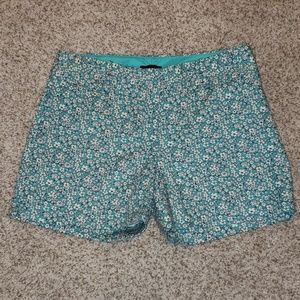 The Limited blue and white floral shorts
